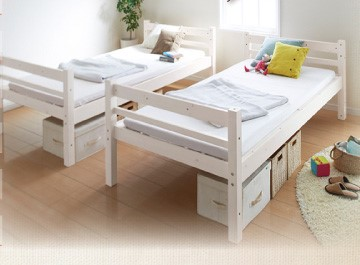 二段ベッド 添寝 ダブルサイズ 分割