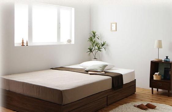 ベッド フレーム ヘッドボードレス2