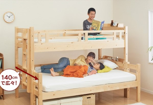 二段ベッド 添寝 下段ダブル