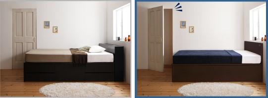 ベッド フレーム フラットヘッドボード1 比較